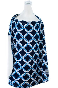 Itzy Ritzy Ritzy Nurser Fully-Lined Nursing Cover Social Circle Blue - Itzy Ritzy Diaper and Baby Accessories
