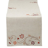 Design Imports 27253 Autumn Wheat Table Runner Embroidered