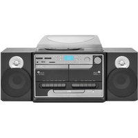 Pyle Turntable Boombox With CD/MP3/Radio/Cassette/USB, Vinyl-to-MP3 Encoding