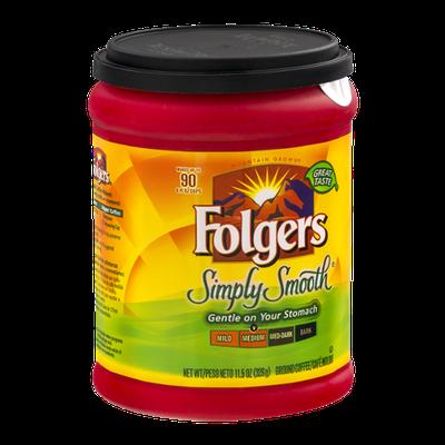 Folgers Simply Smooth Ground Coffee Medium Roast