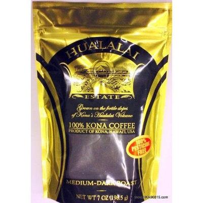 Hualalai Estate- 100% PREMIUM Kona Coffee - Medium-Dark Roast 7oz (GROUND)