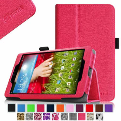 Fintie LG G Pad 8.0 Android Tablet Folio Case - Premium Leather Cover Stand With Stylus Holder, Magenta