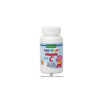 Navitco. Kosher NutriBear Vitamin C Great Tasting Jellies - 60 Bears