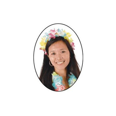 Beistle 50414 - Flower Headband - Multi-Color- Pack of 12