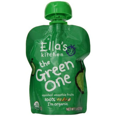Ellas Kitchen Ella's Kitchen Organic Smoothie Fruits, The Green One, 3 Ounce Pouches (Pack of 7)