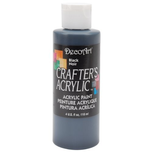 Deco Art DecoArt Crafter's Acrylic Paint, 4-Ounce, Black [Black]