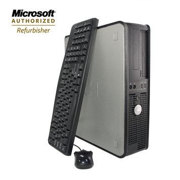Flush Enterprises Dell Refurbished desktop opti 760 Core2Duo 2.8GHz 4GB 1000GB HDD DVDRW Win7Pro