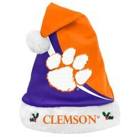 Forever Collectibles NCAA Swoop Logo Santa Hat, Clemson University Tigers
