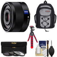 Sony Alpha E-Mount Sonnar T* FE 35mm f/2.8 ZA Lens with Backpack + 3 Filters + Tripod + Kit for A7, A7R, A7S Digital Cameras