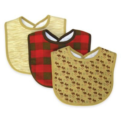 Trend Lab Kids 3 Packs Bib - Northwoods