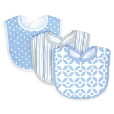 Trend Lab Nursery Kids Baby Products 3 Pack Bib - Logan