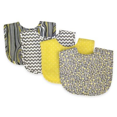Trend Lab Kids Baby Bouquet 4 Pack Bib - Hello Sunshine