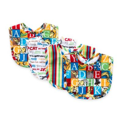 Trend Lab 4-Pack Dr. Seuss Alphabet Bib Set