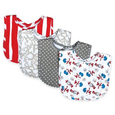 Trend Lab Dr. Seuss Cat and Things Bouquet 4 Pack Bib Set