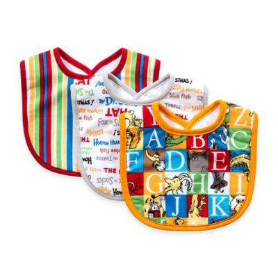Trend Lab 3-Pack Dr. Seuss Alphabet Bib Set