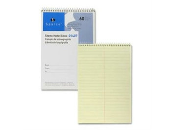 Sparco Steno Notebook, Gregg Ruled, 60 Sheets, 6