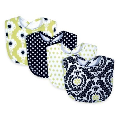 Trend Lab Baby Kids Infant Accessories Nursery Bouquet 4 Pack Bib - Waverly Rise And Shine