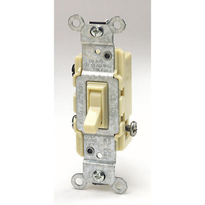 Leviton L01-1453-2I Ivory Residential Grade 3-Way AC Quiet Switches Toggle