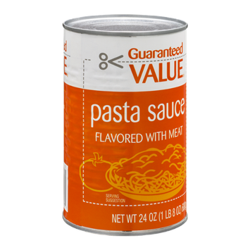 Guaranteed Value Pasta Sauce Flavored with Meat