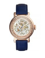 Fossil Original Boyfriend Automatic Leather Blue - Fossil Watches