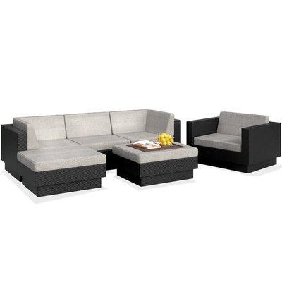 Dcor Design Park Terrace Textured Black Weave 29-Inch Patio Furniture