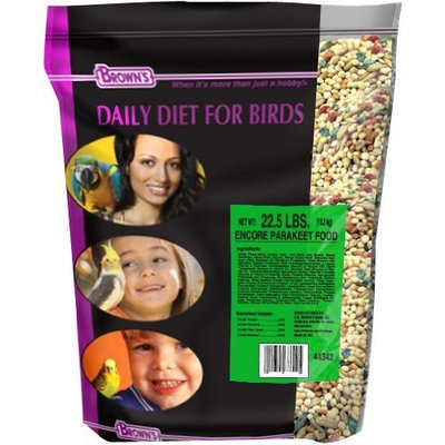 Fm Browns Sons Inc F.M. Brown's Encore Premium Parakeet Bird Food, 22.5-Pound