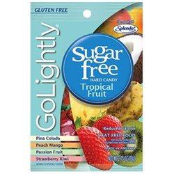 Go Lightly B53981 Golightly Sugar Free Tropical Fruit Candy -12x2.75 Oz
