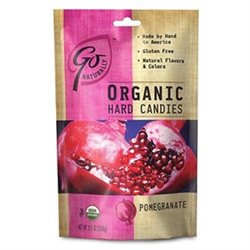 Peters Imports Inc Go Naturally Organic Pomegranate Hard Candy