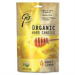 Go Lightly Go Naturally Organic Hard Candies Honey Lemon 3.5 oz bag: 6ct