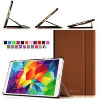 Fintie Light Weight Stand Supports Three Viewing Angles Case for Samsung Galaxy Tab S 8.4 (8.4-Inch) Tablet, Brown