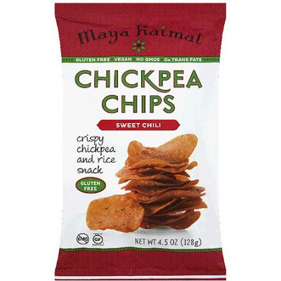 Maya Kaimal Sweet Chili Chickpea Chips, 4.5 oz, (Pack of 12)