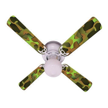 Ceiling Fan Designers Crazy Camo Indoor Ceiling Fan, Size: 42 in.