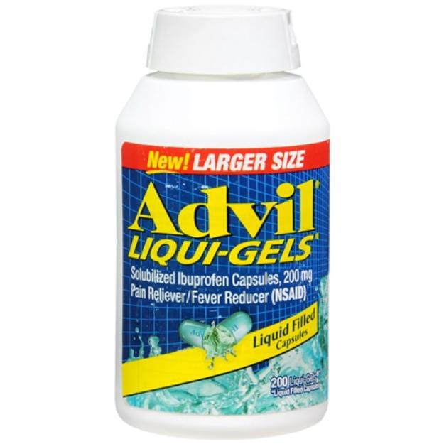Advil Ibuprofen Liqui-Gel Capsules - 200 Count