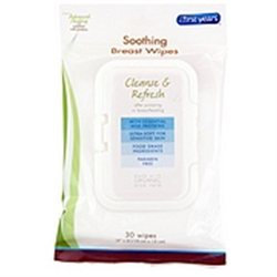 The First Years Soothing Breast Wipes, 30 wipes