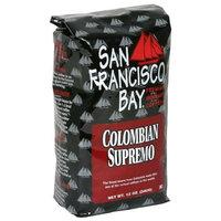 San Francisco Bay Coffee San Franscisco Bay Coffee Columbian Supremo Whole Bean, 12 Ounce