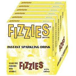 Fizzies Candy Drink Tablets (6 packs), Lemonade