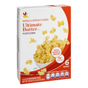 Ahold Popcorn Ultimate Butter Microwave - 6 CT