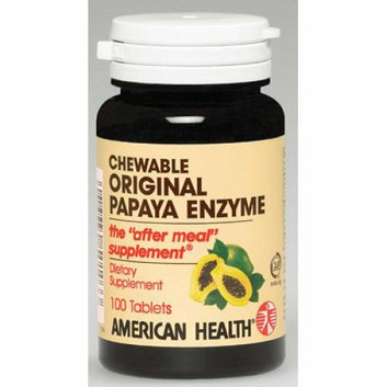 American Health Original Papaya Enzyme 100 Tablets