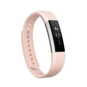 Fitbit 'Alta' Leather Fitness Tracker Accessory Band, Size Large - Pink