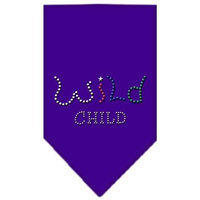 Ahi Wild Child Rhinestone Bandana Purple Small
