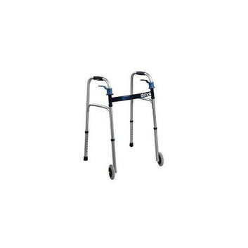 Complete Medical Supplies Complete Medical 1073A Walker Folding Trigger Release Adult with 5 Wheels