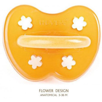 Hevea 224200 - Flower Natural Rubber Orthodontic Pacifier - 3 Months