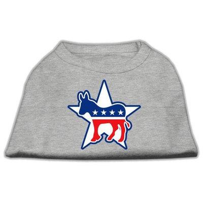 Mirage Pet Products 517601 LGGY Democrat Screen Print Shirts Grey L 14