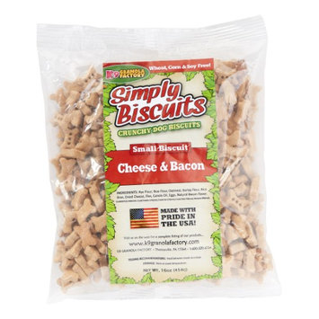 K9 Granola Factory Simply Biscuits Cheese/Bacon Dog Treat Small 1lb