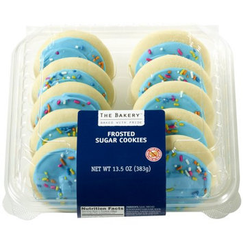 Wal-mart Bakery The Bakery Blue Frosted Sugar Cookies, 10 count, 13.5 oz