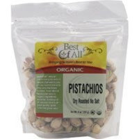 Best Of All Organic Dry Roasted Unsalted Pistachios -- 8 oz