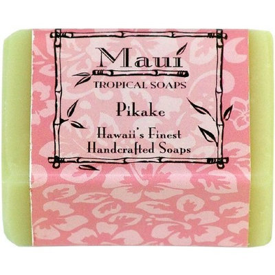 Maui Tropical Soaps Traditional Hawaiian Soap Pikake, 5-Ounce (Pack of 3)