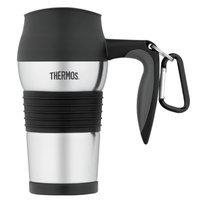 Thermos Stainless Steel Travel Mug, Black, 1 ea