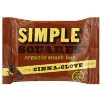 Simple Squares Nuts Cinna-Clove Honey Organic Snack Bar, 1.6 oz, (Pack of 12)