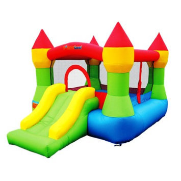 Bounceland Castle Bounce House - Green/ Blue